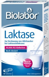 Biolabor Laktase enzym, 40 hochdosierte Tabletten