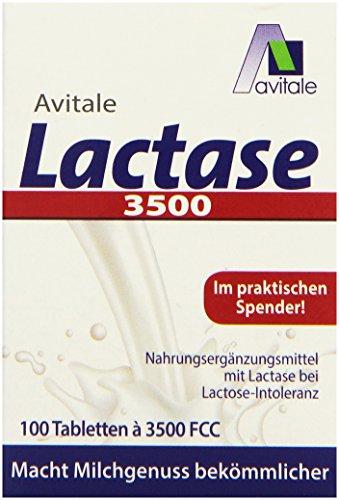 Avitale Lactase 3500 FCC, 100 Laktase Tabletten im Klickspender