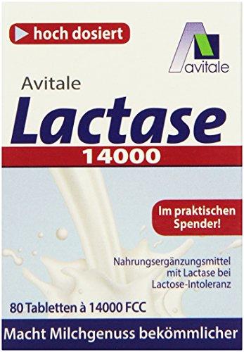Avitale Lactase 14000 FCC, 80 Laktase Tabletten im Spender
